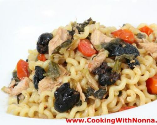 Fusilli with Tuna and Black Olives