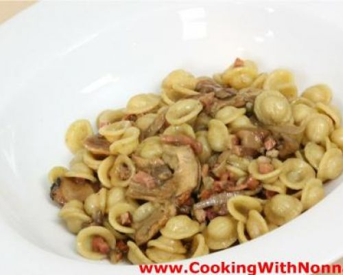 Orecchiette with Porcini and Speck