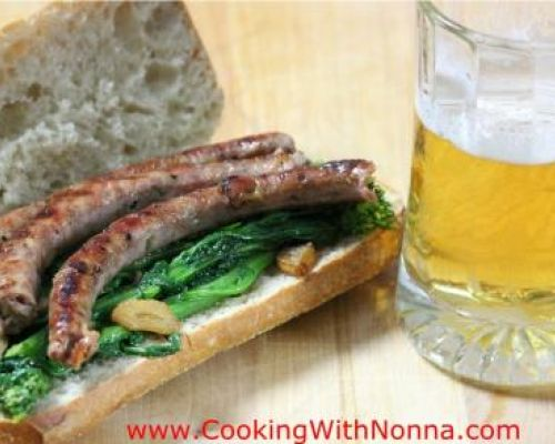 Sausage and Broccoli Rabe Hero