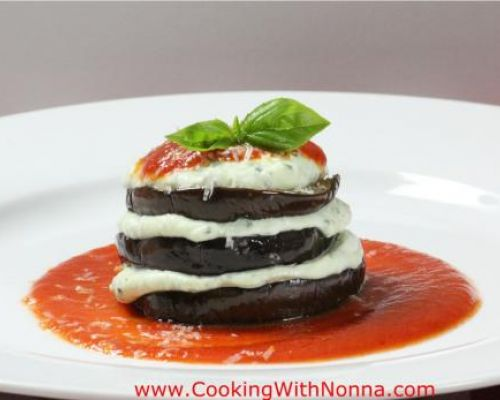 Grilled Eggplant and Ricotta Stacks