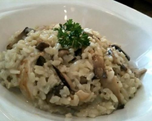 Chicken and Mushrooms Risotto