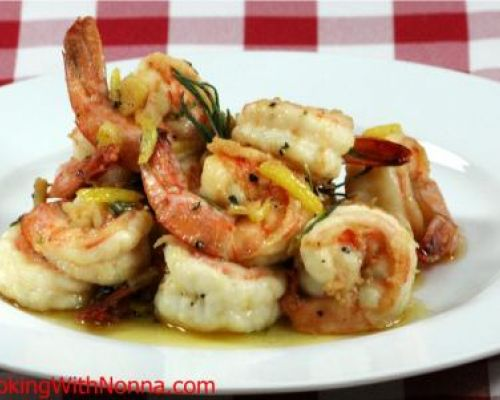 Shrimp in Brandy Sauce