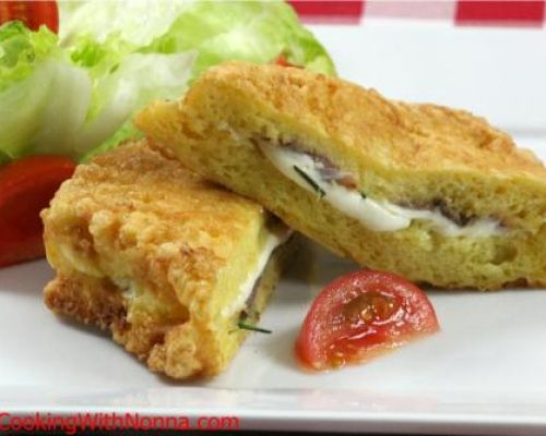 Mozzarella in Carrozza with Anchovies