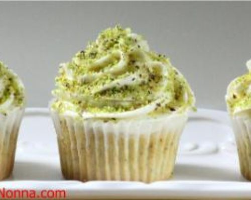 Pistachio Cupcakes with Honey Mascarpone Frosting