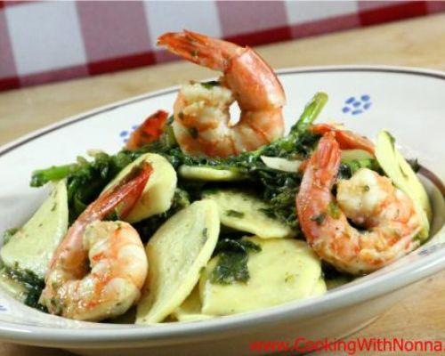 Strascinati, Shrimp and Broccoli Rabe