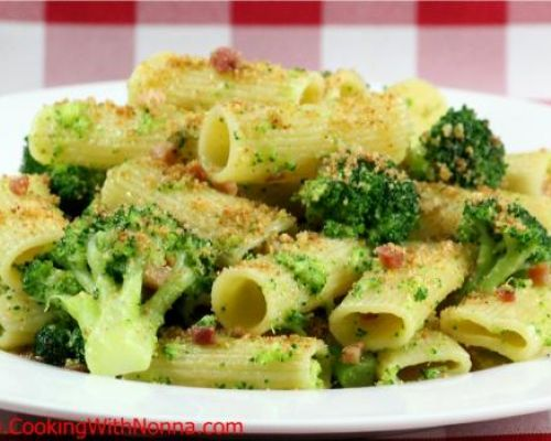 Rigatoni with Broccoli, Pancetta and Toasted Breadcrumbs