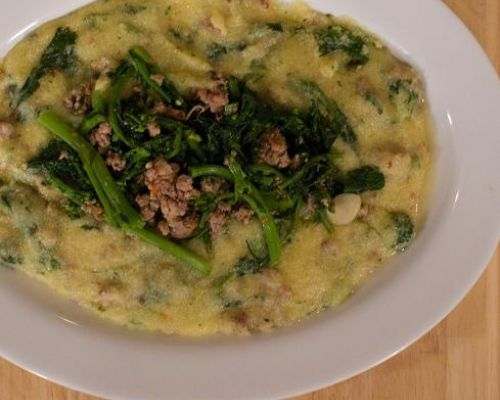 Polenta with Sausage and Broccoli Rabe