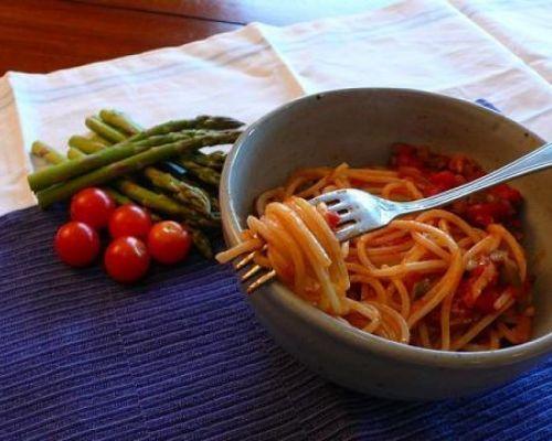 Pasta with Asparagus - Strangozzi con Asparagi Selvatici