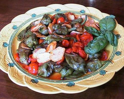 Fried Peppers with Tomatoes and Potatoes