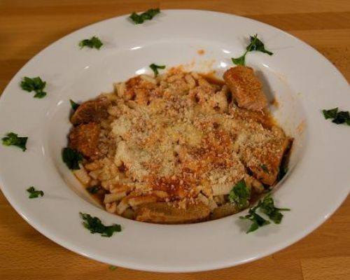 Home Made Cavatelli with Ragu`