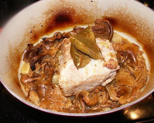 Pork Roast with Porcini Mushrooms